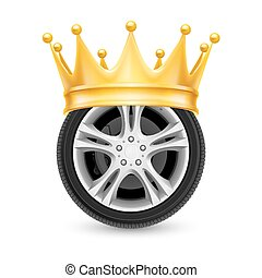 Golden crown on wheel