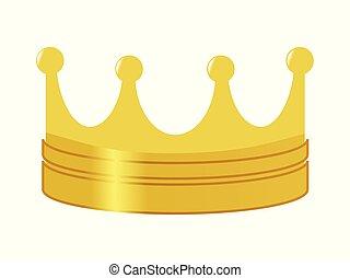 golden crown, symbol of power