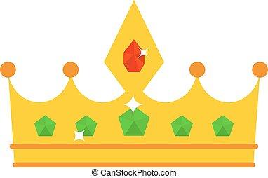 Golden crown vector illustration.