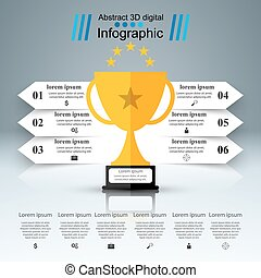 Golden cup - business infographic.