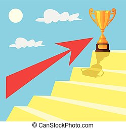 Golden cup. Business target
