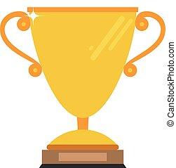 Golden cup for champion vector illustration