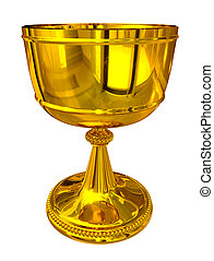 Golden Cup - isolated on white background