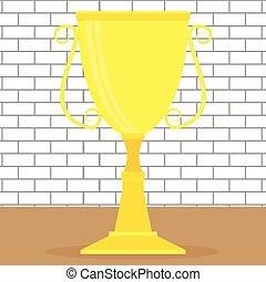 Golden cup or goblet