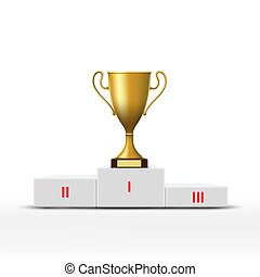 Golden cup. Stock illustration.