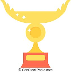 Golden cup vector illustration.