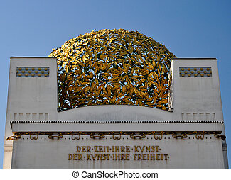 golden cupola of the vienna sezession museum