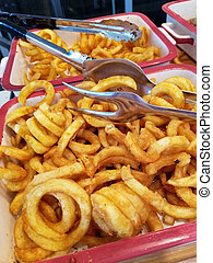 golden curly fries