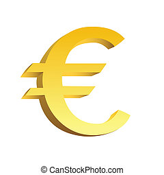 This is a golden currency symbol