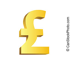 This is a golden currency symbol of pound