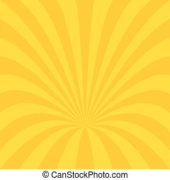Golden curved ray burst background design - vector graphic