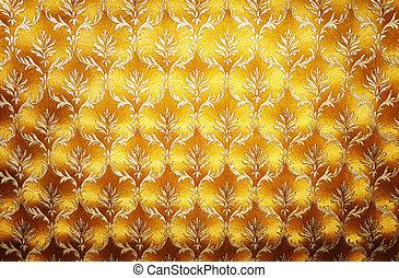 Golden Damask Wallpaper