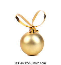 Golden decorativ christmas ball.