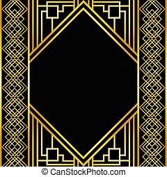 Golden decorative frame design