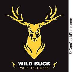 Golden Deer - suitable for team identity, sport club logo or...