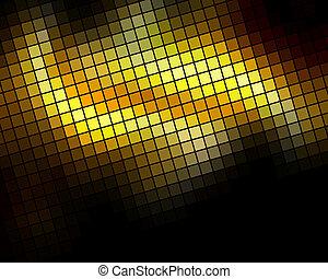 Golden diagonal mosaic vector background.