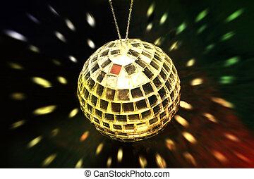 golden disco ball
