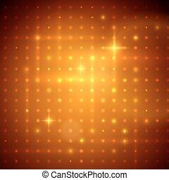 Golden disco lights. - Vector illustration of golden disco...