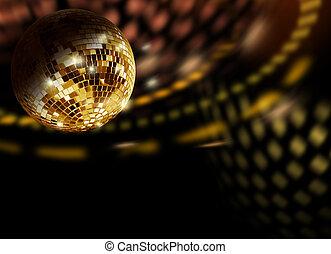 Golden disco reflections