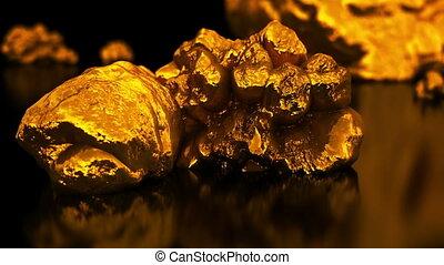 Golden dollar sign of native gold