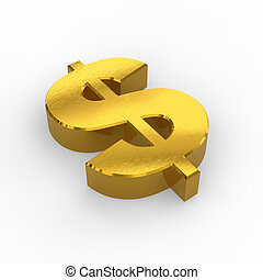 Golden dollar symbol