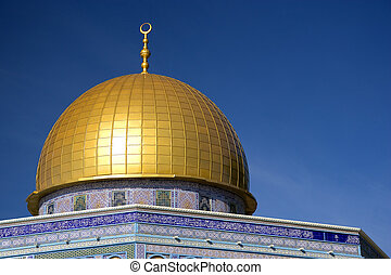 Golden Dome of a Mosque - Image of the famous Dome of the...