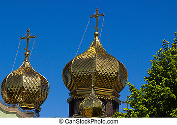 Golden dome of the church. Cherkasy, Ukraine.