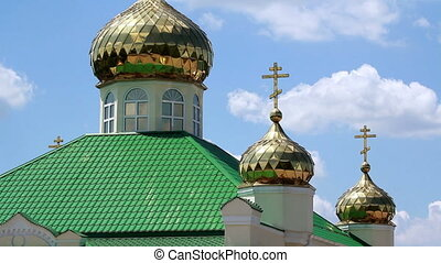 Golden domes of the orthodox church