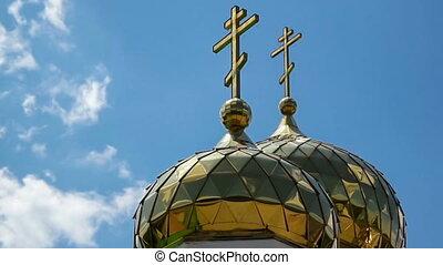Golden domes. Timelapse