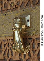 Golden Door Knocker in Abu Dhabi, United Arab Emirates