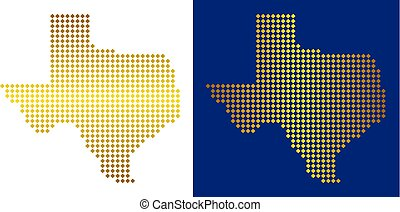 Golden Dot Texas Map
