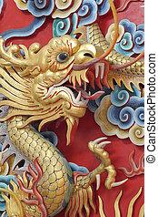 Golden dragon statue.