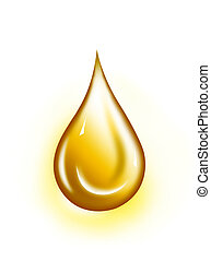 Golden drop - Water drop illustration. Water drop...
