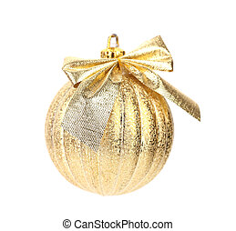 Golden dull christmas ball