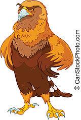 Golden Eagle - Illustration of beautiful golden eagle