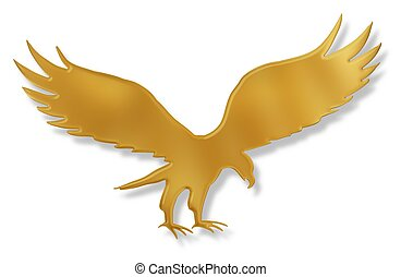 Golden Eagle - Isolated illustration of a golden Eagle with...