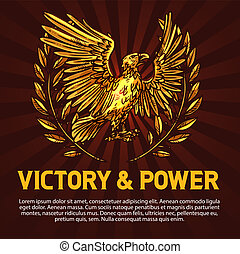 Golden eagle, symbol of victory and power