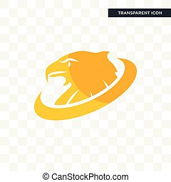 golden eagle vector icon isolated on transparent background, golden eagle logo design