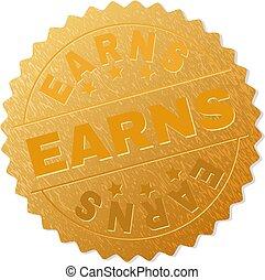 Golden EARNS Badge Stamp