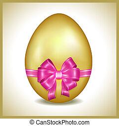 Golden Easter egg isolated