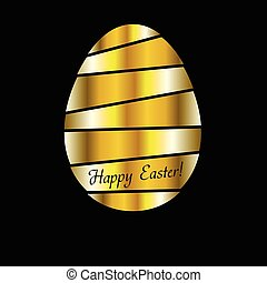 Golden Easter egg vector background