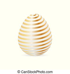 Golden easter egg. Vector illustration.