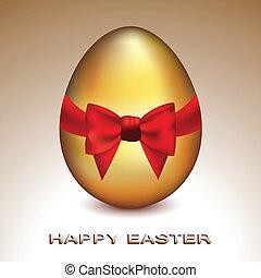 Golden Easter Egg - Vector illustration of a cute golden egg...