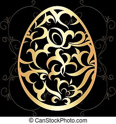 Easter egg with a pattern