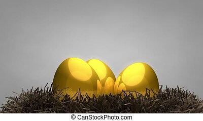 Golden egg and nest
