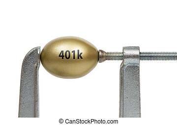 Golden Egg in Metal Clamp - 401k