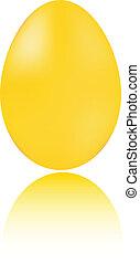 Golden egg isolated on white