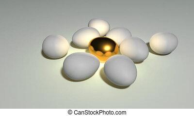 golden egg loop white