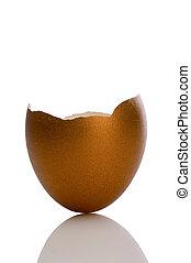 golden egg shell