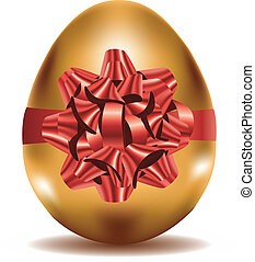 Golden Egg with Bow
